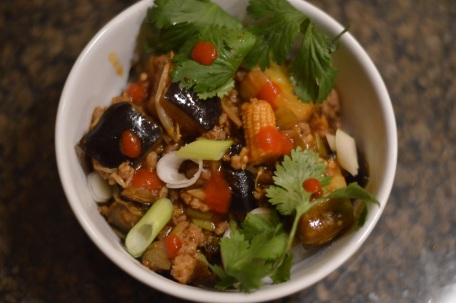 Finished Ma Po Eggplant - Bachelors Test Kitchen