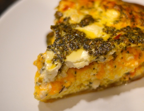 Quiche slice closeup - Bachelors Test Kitchen